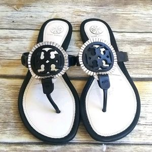 Tory Burch Black and White Millers Sz 8